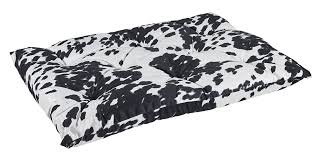 cow print ribbon bowsers tufted cushion cow print feed pet purveyor