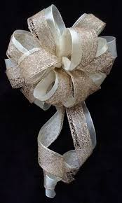 wedding bows details about 6 white pull pew bows tulle rosebuds church wedding