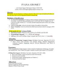 Example Work Resume by Resume Examples With Job Experience