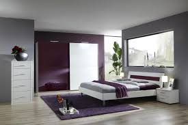 simulation d o chambre chambre blanc et violet ides