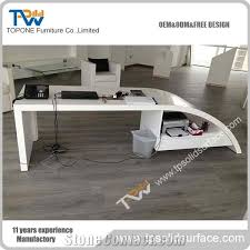 Auto Office Desk Corian Acrylic Solid Surface Office Desk For Executive Table For
