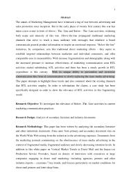 Advertising Research Paper Atl Btl Research Paper