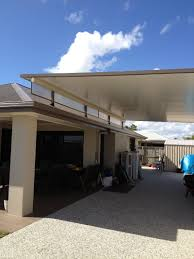 Carport Styles by Stratco Cooldek Fly Over Carport With Twinwall Side Panels Fly