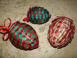 use ribbon to make pretty pinecone ornaments matt and shari