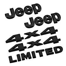 jeep black emblem amazon com 5pcs set am13 black car styling accessories chromed