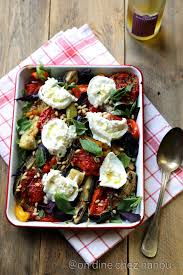 recette de cuisine été légumes d été au four burrata plateau de légumes
