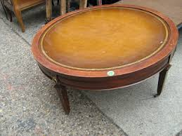 Leather Top Coffee Table Uhuru Furniture U0026 Collectibles Leather Top Round Coffee Table