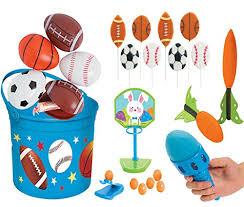 sports easter baskets all 17pc football basketball soccer baseball themed sports