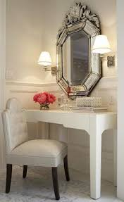 vintage vanity is gorgeous wish i had a larger bedroom i would