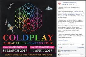 coldplay album 2017 update ahfodtour extra tickets may be released m sia wants