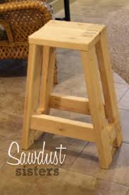 How To Make Bar Stools Diy Barstool Using Only 2x4s Sawdust Sisters