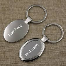 personalized keychain gifts 100pcs per lot one side laser free metal diy oval shape keychain