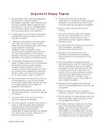 Example Of Good Argumentative Essay Argumentative Essay About College Education