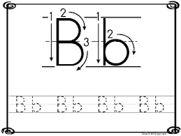 8x10 alphabet directional tracing printable worksheets in a pdf file