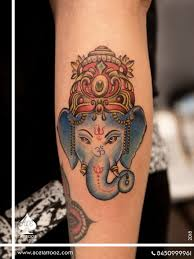 lord ganesha tattoos ace tattooz studio mumbai india