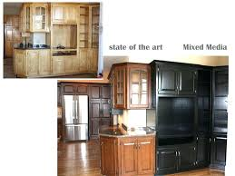 Custom Painted Kitchen Cabinets Kitchen Cabinets Stain Or Paint State Of The Art A Painting