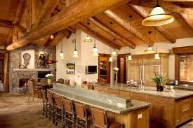 jackson hole log cabin kitchen www tetonheritagebuilders com