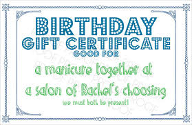 gift coupon template birthday gift certificate 6 free printable