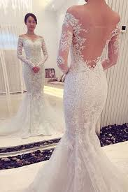 lace mermaid wedding dresses charming the shoulder sleeves lace mermaid wedding dress