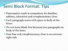 Semi Block Letter Format Business Letter Business Letter Formats