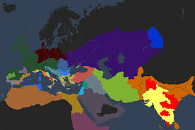 Crusader Kings 2 Map Screenshot Of The Religion Map Mode Image Warlords Mod For