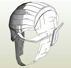 paper halloween mask flash justice league costume pepakura 3d model dc comics zoom