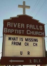 church signs sayings are often something witty and thought