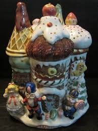 fitz floyd 1992 nutcracker cookie jar with lid salt and