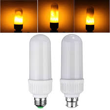 yellow led light bulbs led flame light bulb truly flickers mamahome your essential store