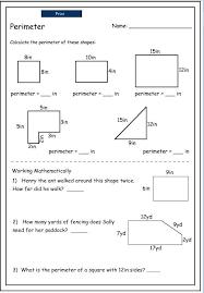measuring area and perimeter worksheets mreichert kids worksheets