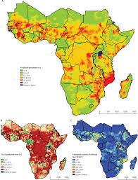 Sub Saharan Africa Map by Spatial Distribution Of Schistosomiasis And Treatment Needs In Sub