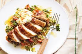 cuisine quinoa paprika chicken with quinoa tabbouleh