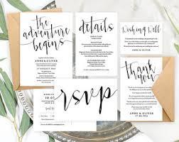rustic wedding invitation kits wedding invitation kits etsy