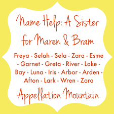 Mean Names Name Help A Sister For Bram And Maren Appellation Mountain