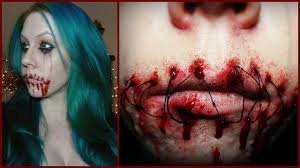 stitched mouth sfx makeup tutorial easy halloween look youtube