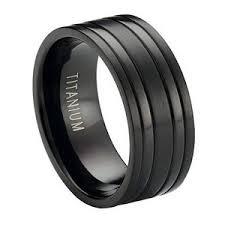 black titanium wedding bands 8mm black titanium wedding band with satin finish and polished