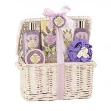 lavender gift basket bath products lavender and spa set