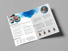 social media brochure template one fold brochure template social media bi fold brochure template