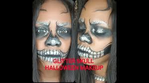 glitter skull halloween makeup 2016 inspired by jade deacon