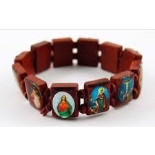 religious bracelet new wooden saints religious bracelet twilight sky on e