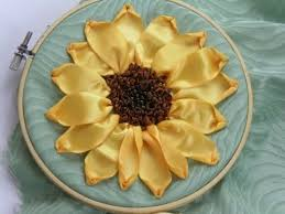 sunflower ribbon how to make a knot project sunflower ribbon embroidery