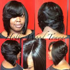 sew in bob hairstyle short layered bob hairstyles back view