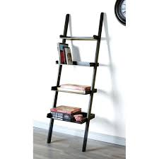 wall leaning shelves cozy black leaning bookcase with desk and