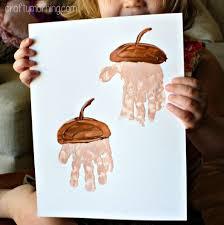 Hand Crafts For Kids To Make - handprint acorn craft for kids to make acorn crafts craft and
