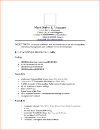 sle resume for college students philippines best resume format quora format of leave application letter in