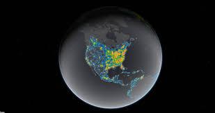Dark Sky Map Northwest Wyoming Has Some Of The Darkest Skies In Lower 48