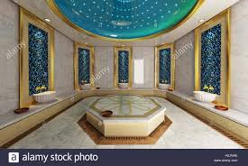 modern turkish bath 3d design and rendering stock photo royalty