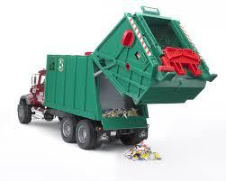 bruder garbage truck bruder toys mack granite garbage truck toy for children youtube