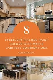 what color goes best with maple cabinets 8 most excellent kitchen paint colors with maple cabinets