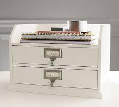 Desk Tray Organizer by Bedford Two Drawer Paper Organizer Pottery Barn